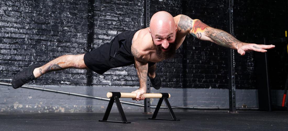 Al Kavadlo Next Level Strength One Arm Elbow Leveron Parallettes