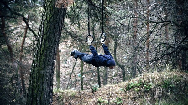 Alex Zinchenko Gymnastic Rings Forest Outdoor Workout