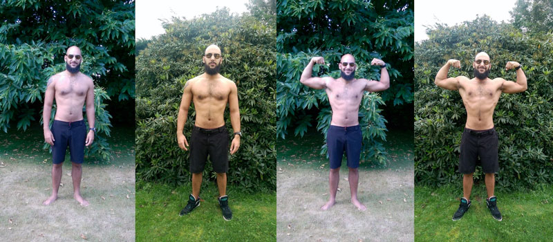 Alexis Bouzidi Before and After the Get Strong Transformation Challenge