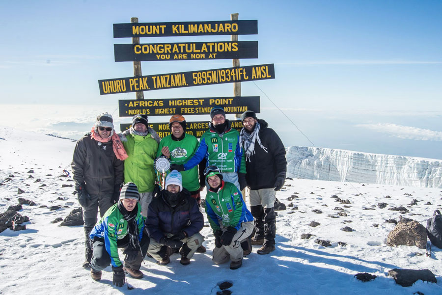 Alexis Bouzidi Kilimanjaro summit 2014