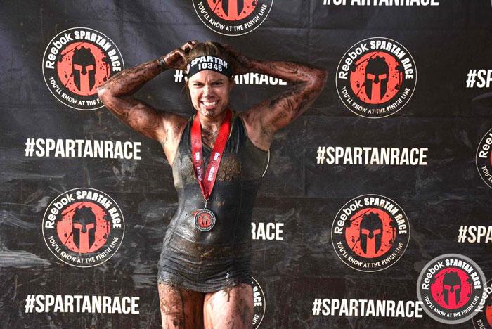 Anne Reuss Spartan Race Finish