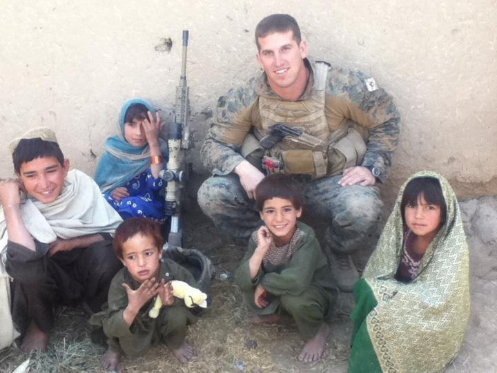 Anthony Moro in Afghanistan with Local Kids 2011