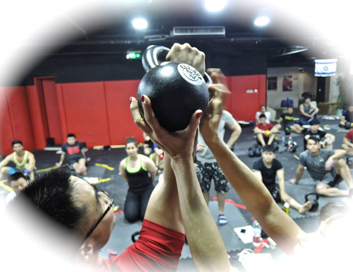 Assisted Kettlebell Press