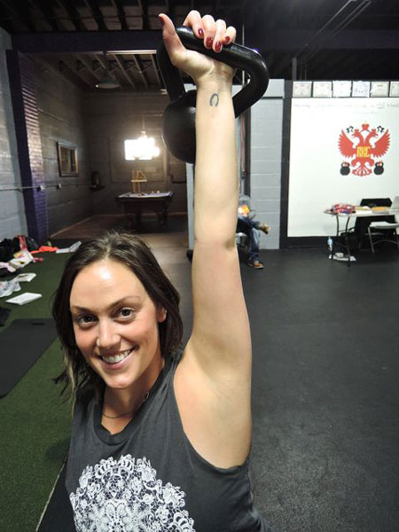 Blair Rockoff Kettlebell Press at the Chicago RKC