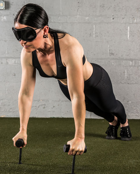 Blindfolded Neuro-Grip Push-Up