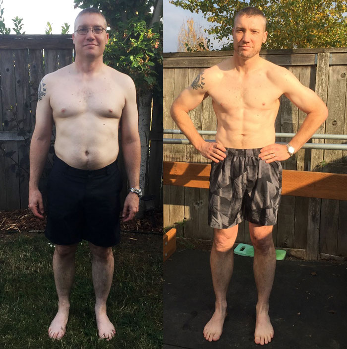 Brian Stramel Before And After The Get Strong Transformation Challenge