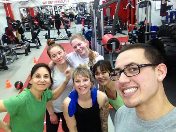 Cami Pipkin and Ruben Payan Clients At Gym