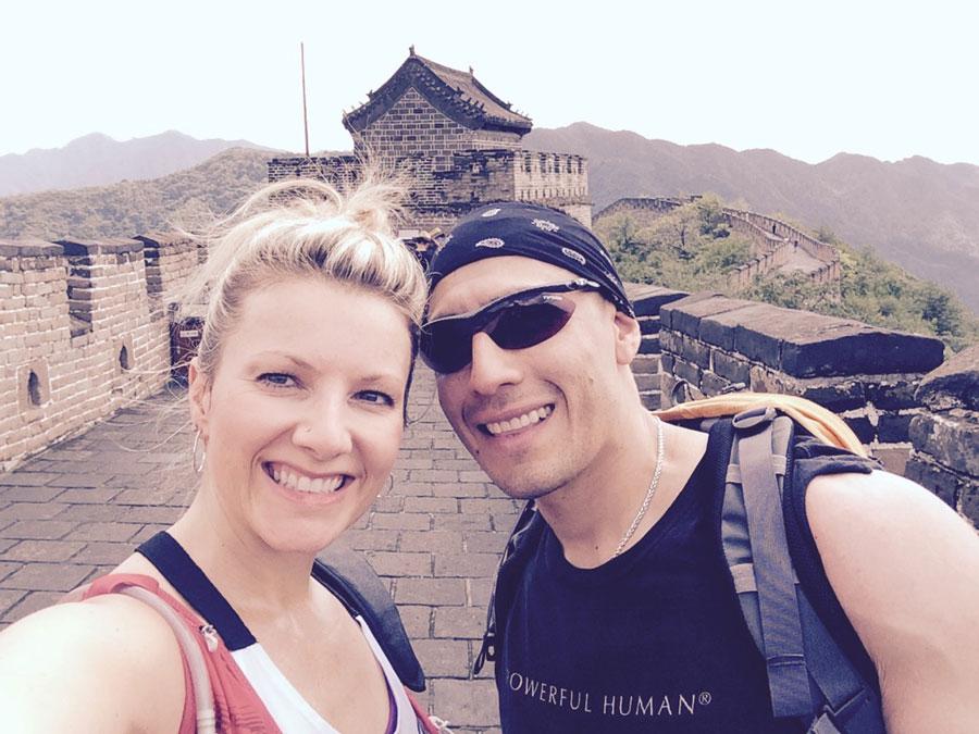Cami Pipkin and Ruben Payan at the Great Wall