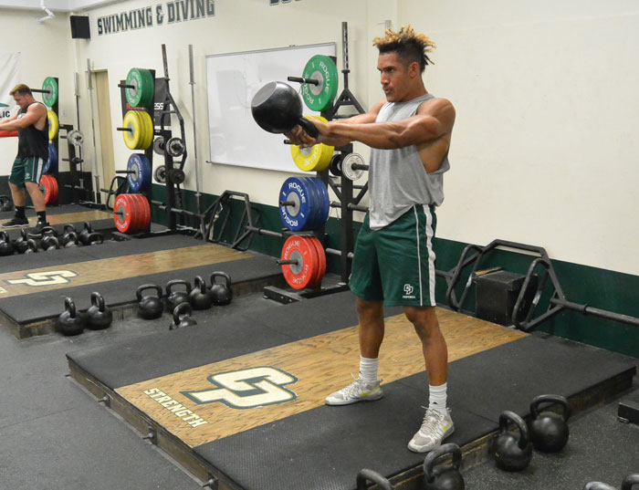High Tension RKC HardStyle Kettlebell Swings at Cal Poly