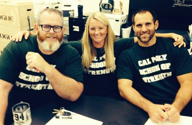 Chris White and Cal Poly Strength Gang