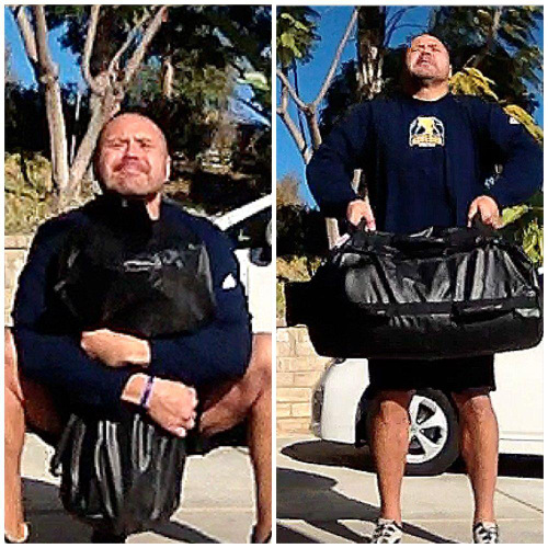 Coach Dos training with Ultimate Sandbag