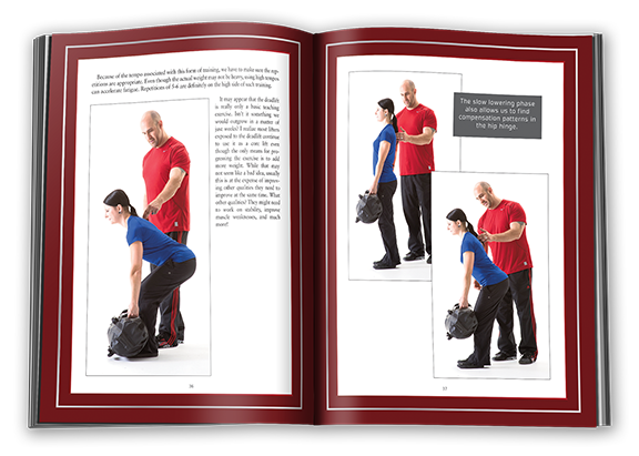 DVRT Book inside pages, how to deadlift