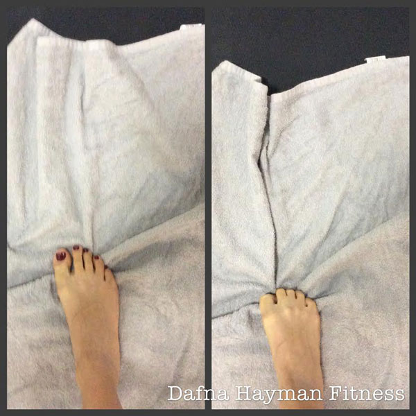 Dafna Foot Exercise with towel
