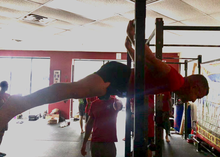 Darell Dansby PCC Austin, Texas, Back Lever