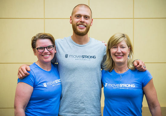 Dustin Jones With MoveStrong Staff