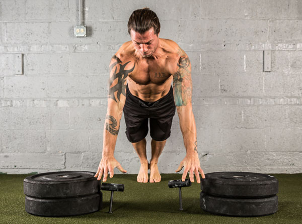Explosive Neuro-Grip Push-ups to Platform