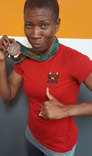 Fatimat with Medal and RKC