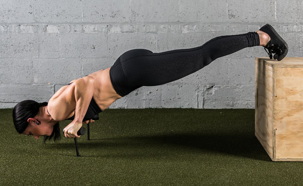 Feet Elevated Neuro-Grip Push-Up