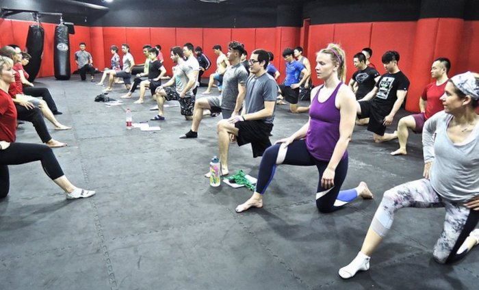 Group Hip Flexor Stretches
