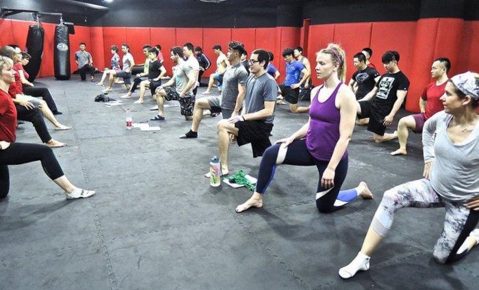Group Hip Flexor Stretches