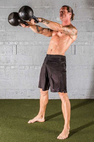 Specialized variety double kettlebell swings