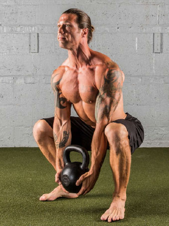 The Hardstyle Kettlebell Challenge Potato Sack Kettlebell Squat