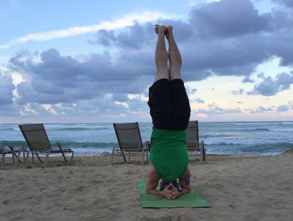 Isaac Hoffman Beach Headstand