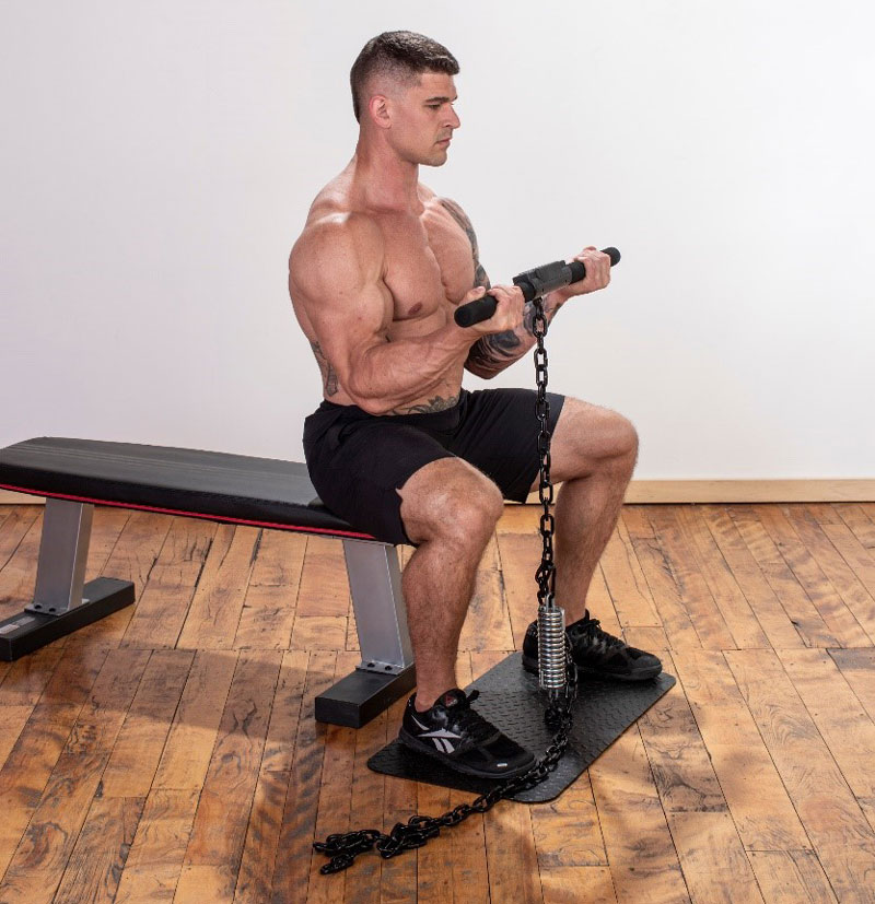 Isochain seated curl