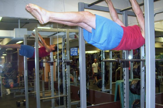 Jack Arnow Performs a Front Lever