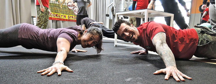 Jackie Wu Danny Archer Pushups at PCC