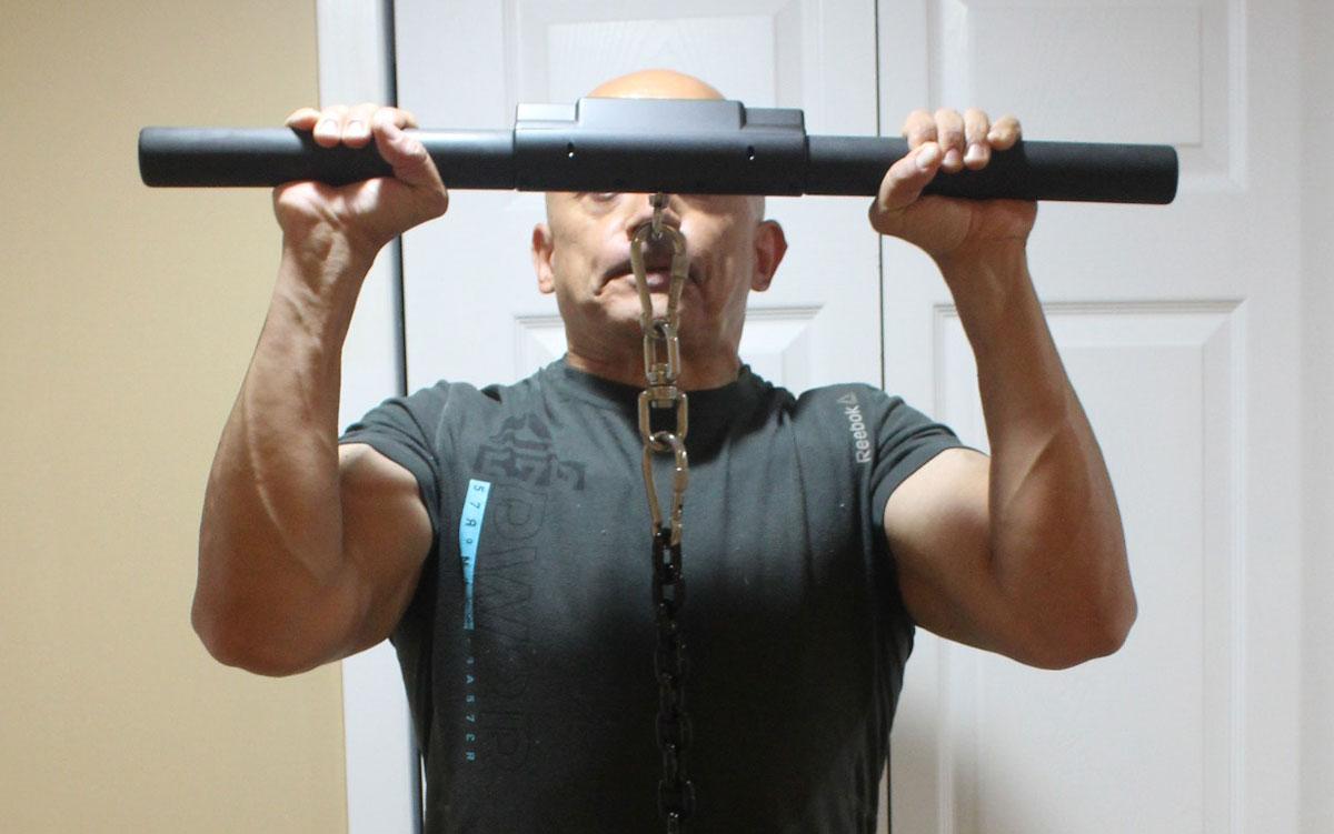 John D'Ambrosio Isochain Overhead Press Isometric Strength Training