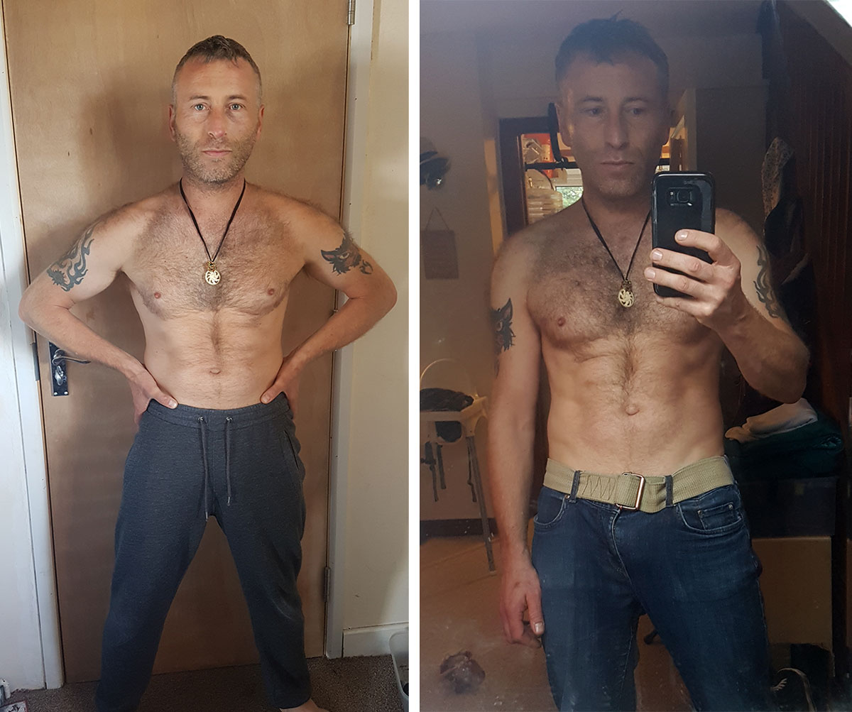 Jon Hersey Before and After the Get Strong Transformation Challenge