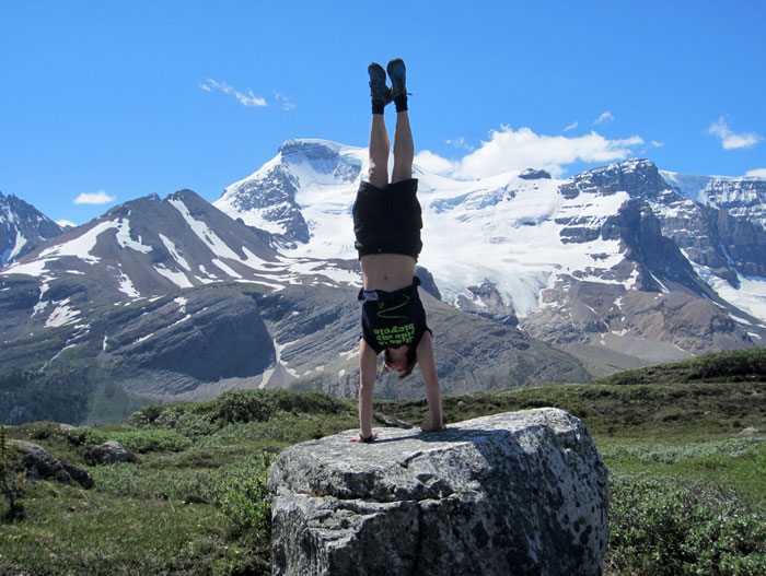 Kirsty Grosart Handstand Mountains