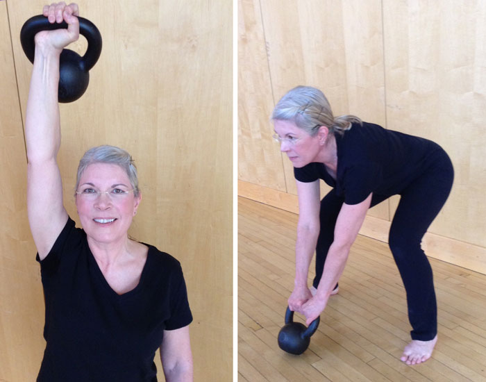 Laura Phillips With Kettlebells