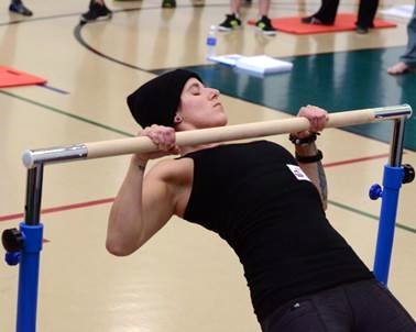 Laura Robertson Performing an Aussie Pullup at the PCC