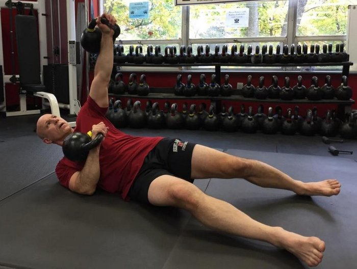 Phil Ross Kettlebell Chest Press Variation