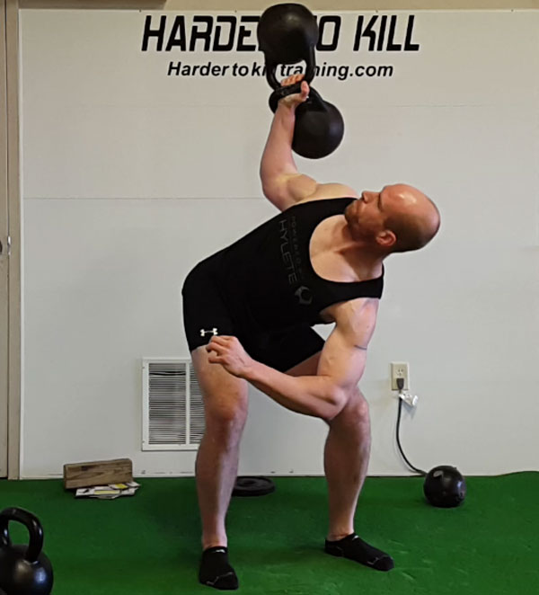 Levi Markwardt Kettlebell Bent Press