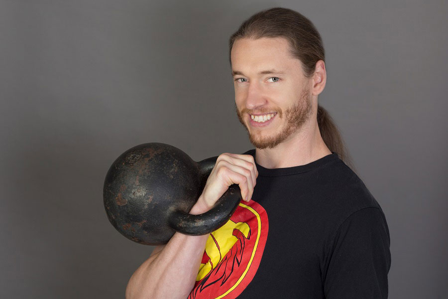 LoganChristopher with Kettlebell