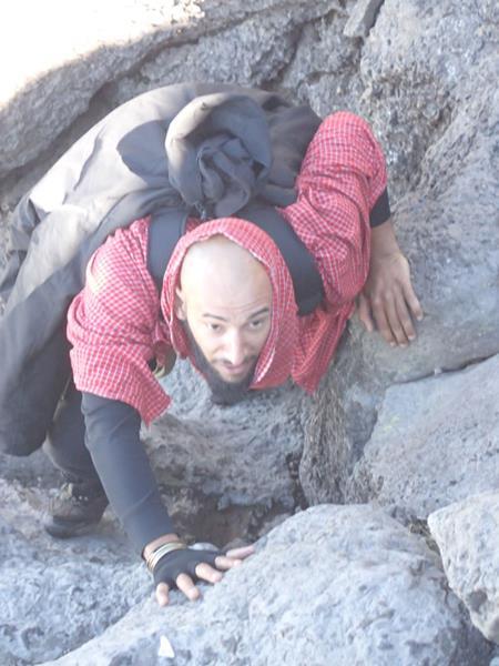 Alexis Bouzidi climbing Kilimanjaro 2014