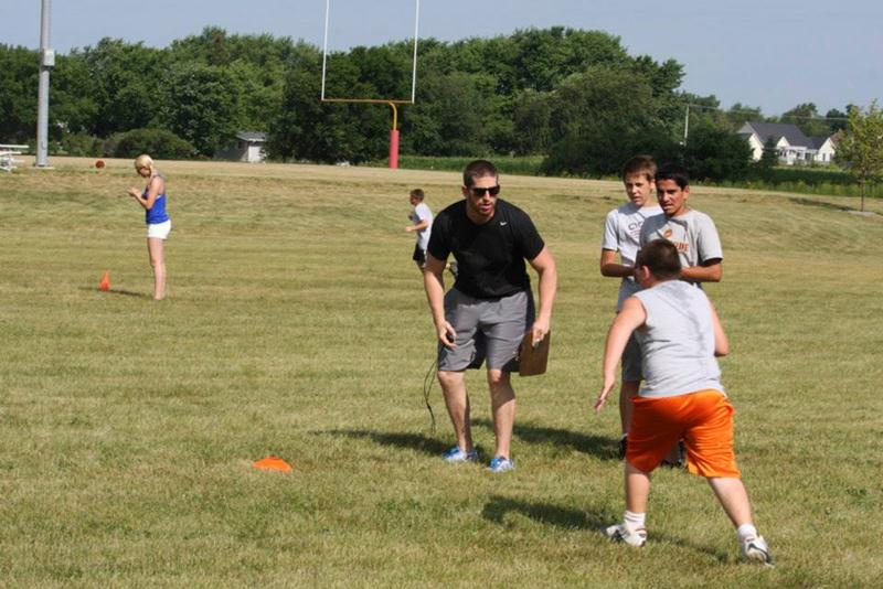 Anthony Moro Coaching Jr High Combine 2012
