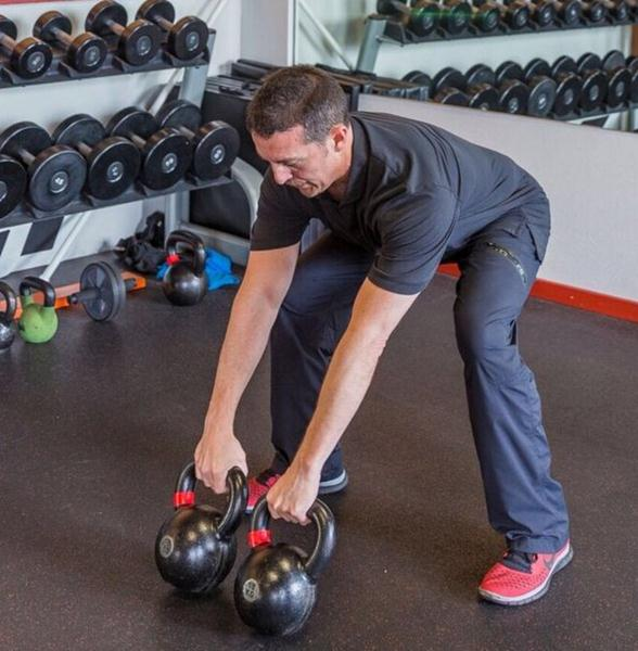 Chris Quesada Double Kettlebell Swing Setup