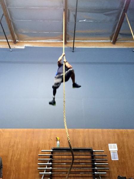 David Rodriguez Rope Climb