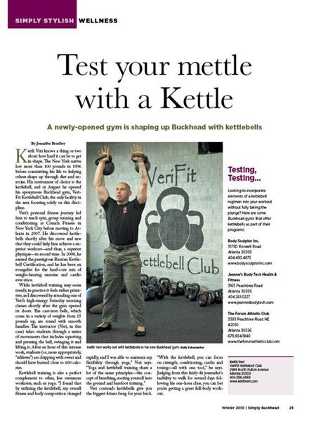 Keith Veri Kettlebell Club Magazine Article