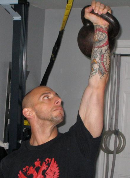 Keith Veri Kettlebell Overhead Press at Gym