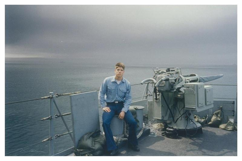Lance Monteau in the Persian Gulf 1991