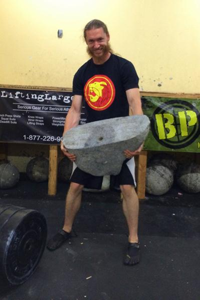 Logan Christopher Strongman Comp Stone Lift