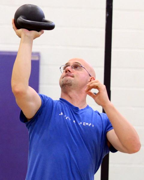 Rob Exline RKC2 Performs a Kettlebell Waiter Press