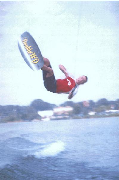 Sean wakeboarding