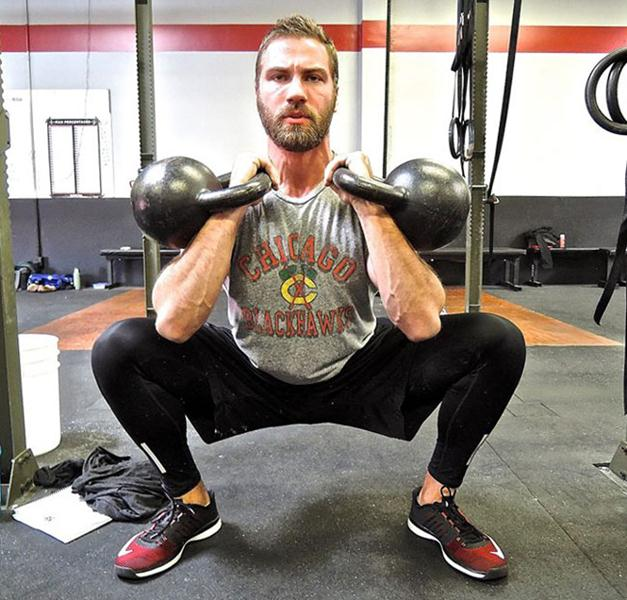 Sean Rainey Double kettlebell Front Squats