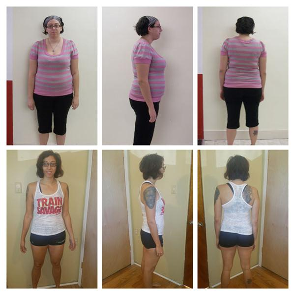 Stephanie Woods, RKC Before and After photos